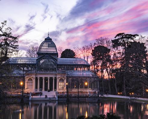"""""""Palacio de Cristal"""" del Parque del Retiro, Madrid, España"""